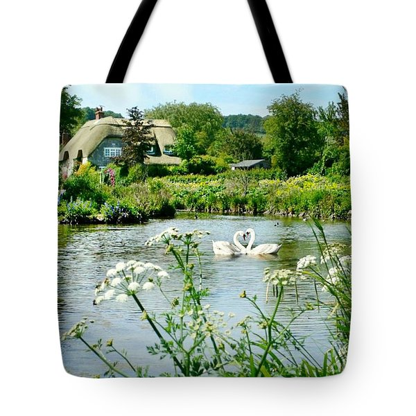An English Cottage Tote Bag