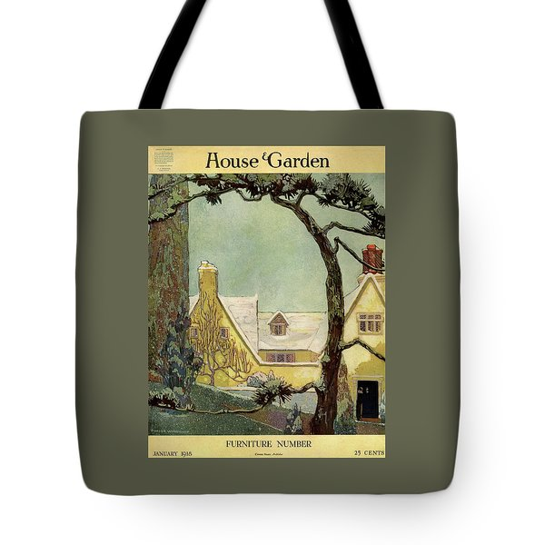 An English Country House Tote Bag