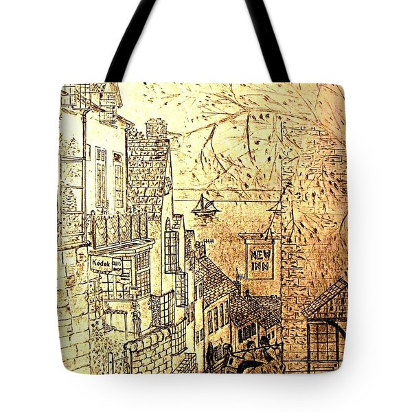 An English Fishing Village Tote Bag