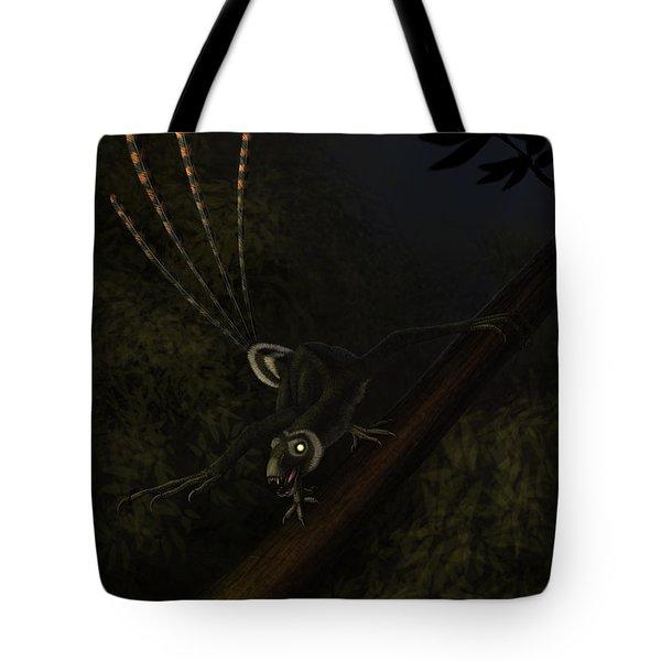 An Epidexipteryx Reacts Aggressively Tote Bag by Alvaro Rozalen