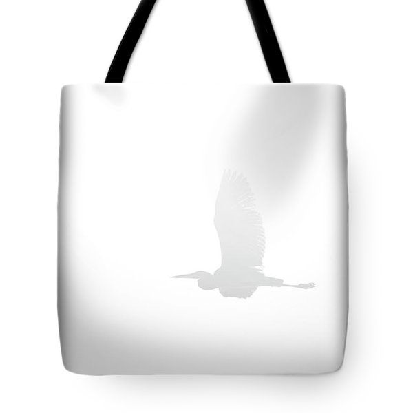 An Ethereal View Of A Great Heron Tote Bag