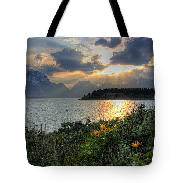 An Evening At Jackson Lake Tote Bag