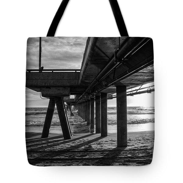 An Evening At Venice Beach Pier Tote Bag by Ana V Ramirez