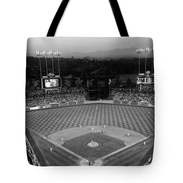 An Evening Game At Dodger Stadium Tote Bag