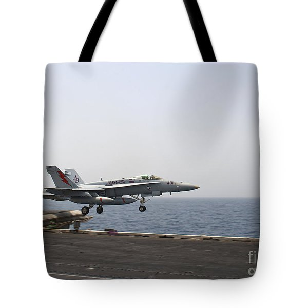 An Fa-18c Hornet Takes Tote Bag by Stocktrek Images