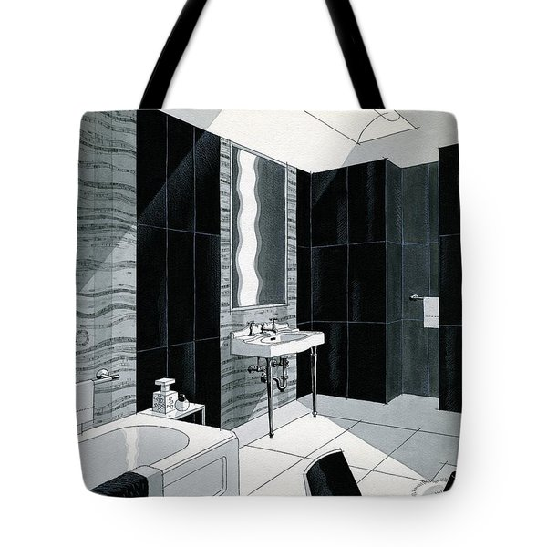 An Illustration Of A Bathroom Tote Bag