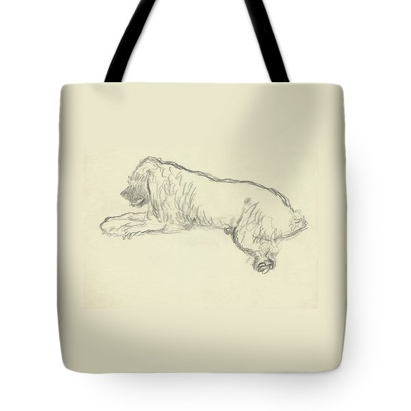 An Illustration Of A Dog Tote Bag