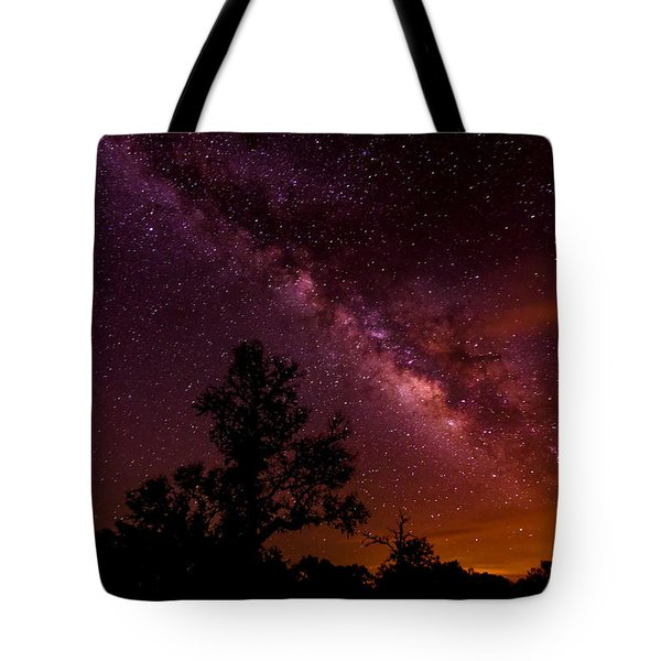 An Image Worth 520 Miles - Milky Way At Enchanted Rock Texas Hill Country Tote Bag