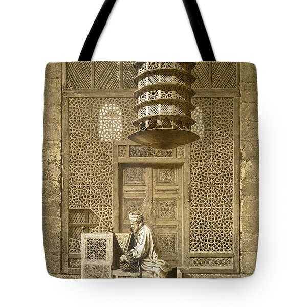 An Imam Reading The Koran In The Mosque Tote Bag