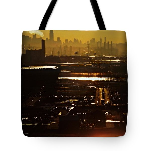 An Imposing Skyline Tote Bag by James Aiken