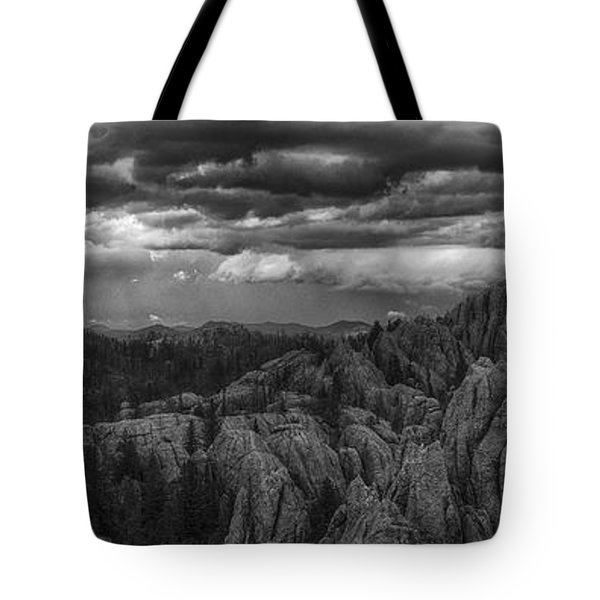 An Incoming Storm Over The Black Hills Of South Dakota Tote Bag