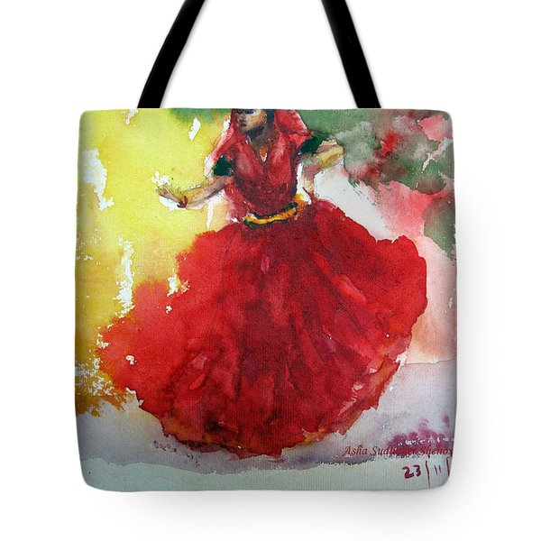 An Indian Dancer Tote Bag