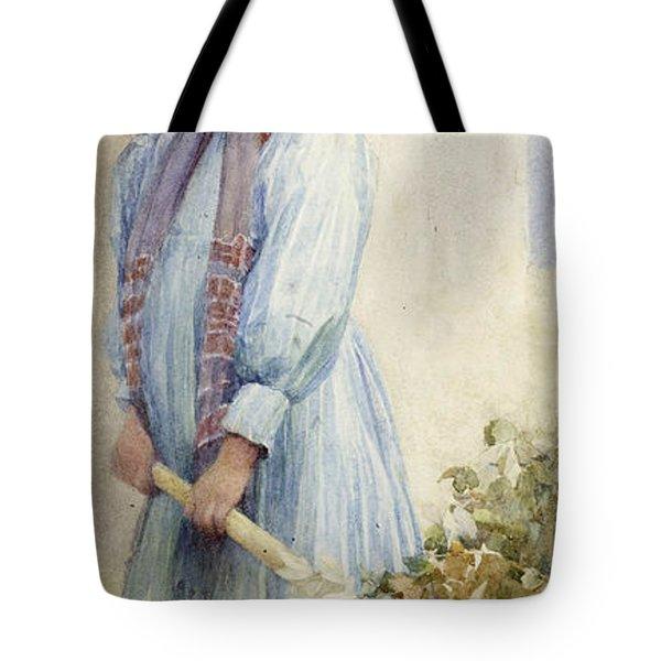 An Italian Peasant Girl Tote Bag by Ada M Shrimpton