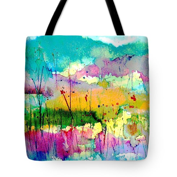 An Oasis In The Desert Tote Bag by Hazel Holland