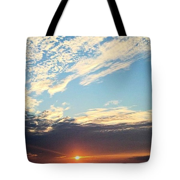 An Ocean And A Sunrise Tote Bag