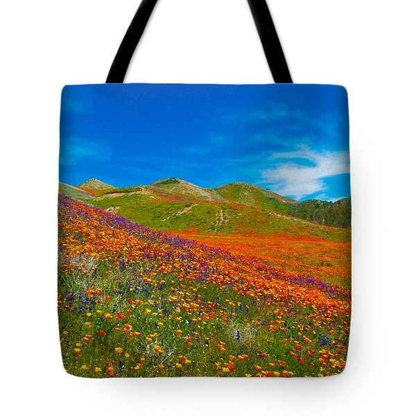 An Ocean Of Orange  Tote Bag