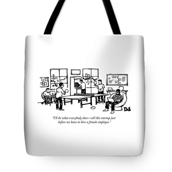 An Office Of Male Tech Entrepreneurs Tote Bag
