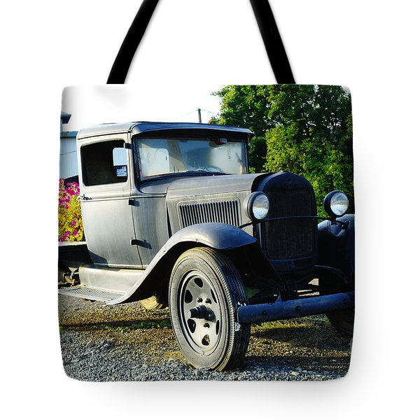 An Old Farm Truck  Tote Bag by Jeff Swan