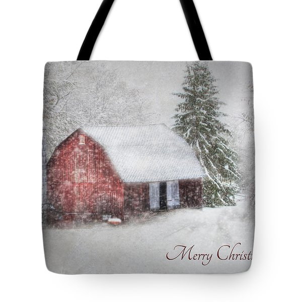 An Old Fashioned Merry Christmas Tote Bag by Lori Deiter