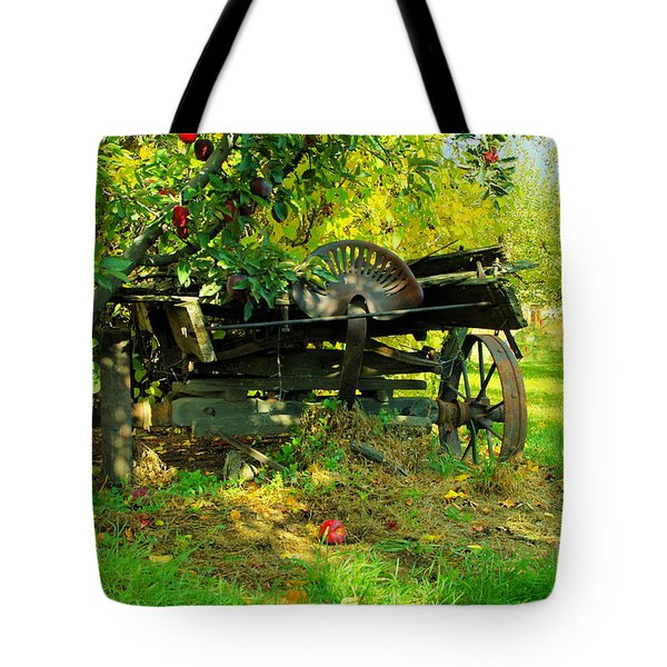 An Old Harvest Wagon Tote Bag by Jeff Swan