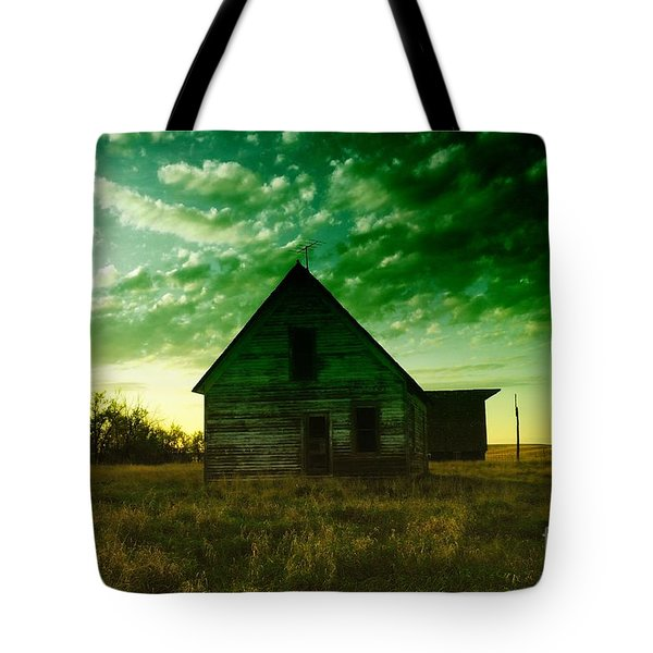An Old North Dakota Farm House Tote Bag by Jeff Swan