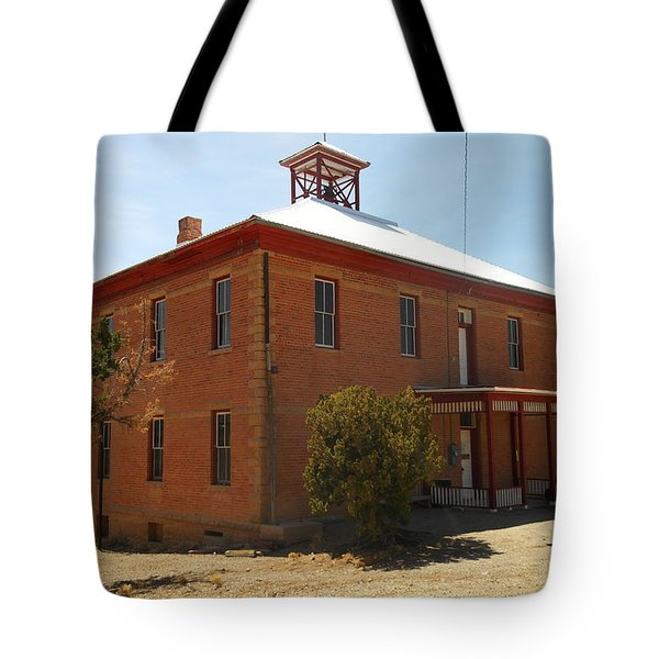 An Old School In White Oaks New Mexico Tote Bag by Jeff Swan