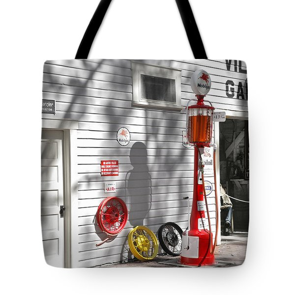 An Old Village Gas Station Tote Bag