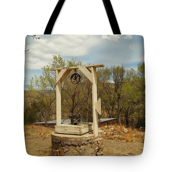 An Old Well In Lincoln City New Mexico Tote Bag by Jeff Swan