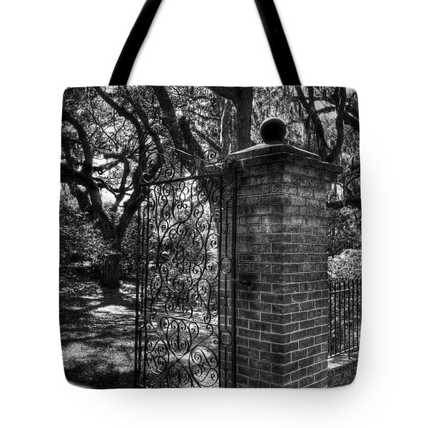 An Open Gate 2 Bw Tote Bag