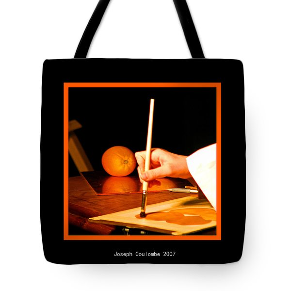 An Orange And A Brush Tote Bag