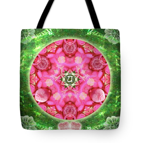 Anahata Rose Tote Bag