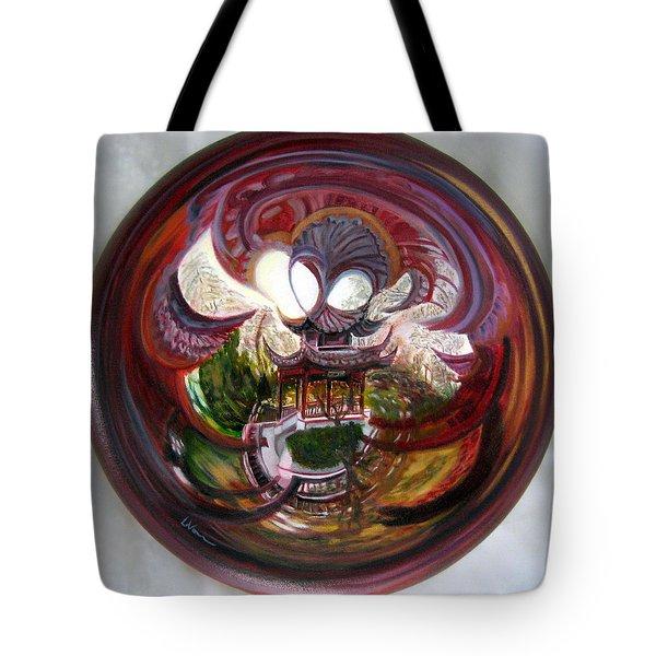 Anamorphic Chinese Pagoda Tote Bag