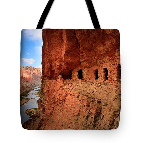 Anasazi Granaries Tote Bag by Inge Johnsson