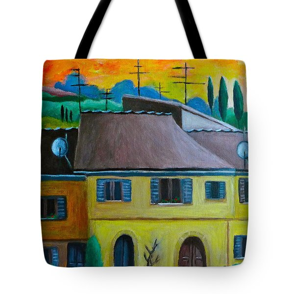 Ancient Volterra Wired Tote Bag by Victoria Lakes