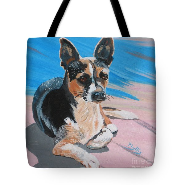 Ancho A Portrait Of A Cute Little Dog Tote Bag by Phyllis Kaltenbach