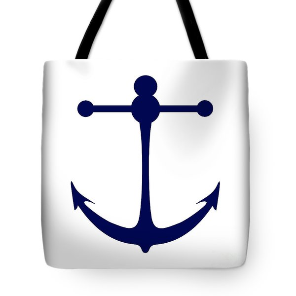Anchor In Navy And White Tote Bag