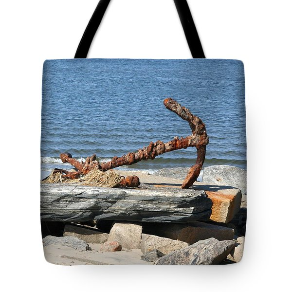 Tote Bag featuring the photograph Anchor by Karen Silvestri