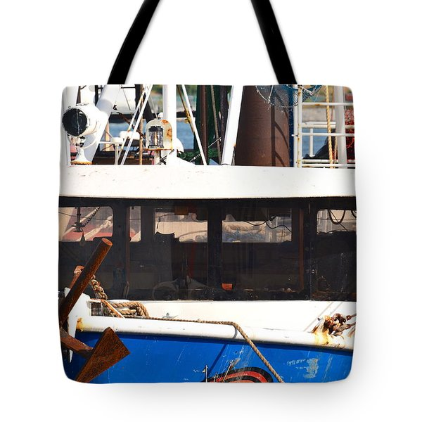 Tote Bag featuring the photograph Anchor Up Close by AnnaJo Vahle
