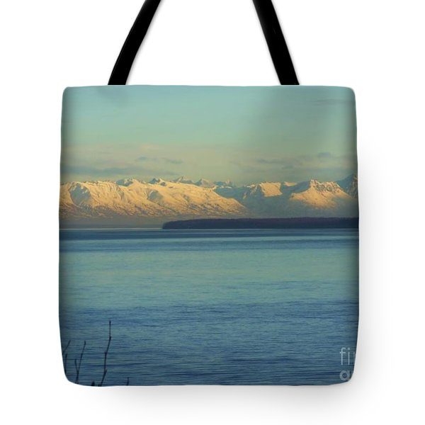 Anchorage Mountains Tote Bag