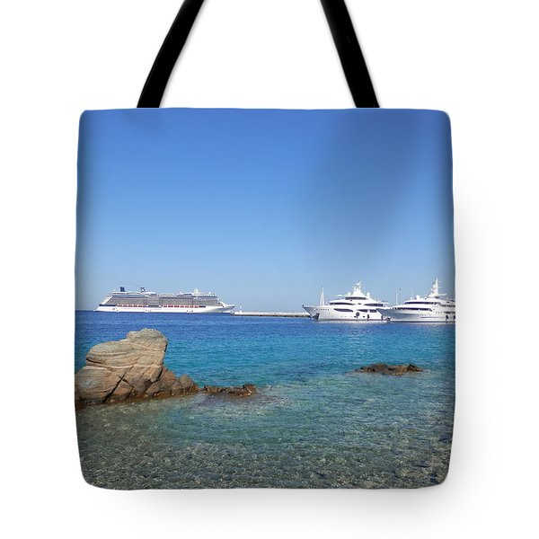 Anchored Ships Tote Bag by Pema Hou