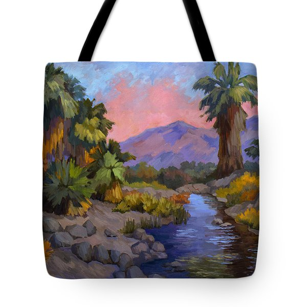 Ancient Cahuilla Fish Traps Tote Bag by Diane McClary
