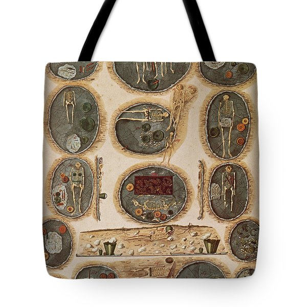 Ancient Celtic Cemetery Hallstatt Tote Bag by Science Source