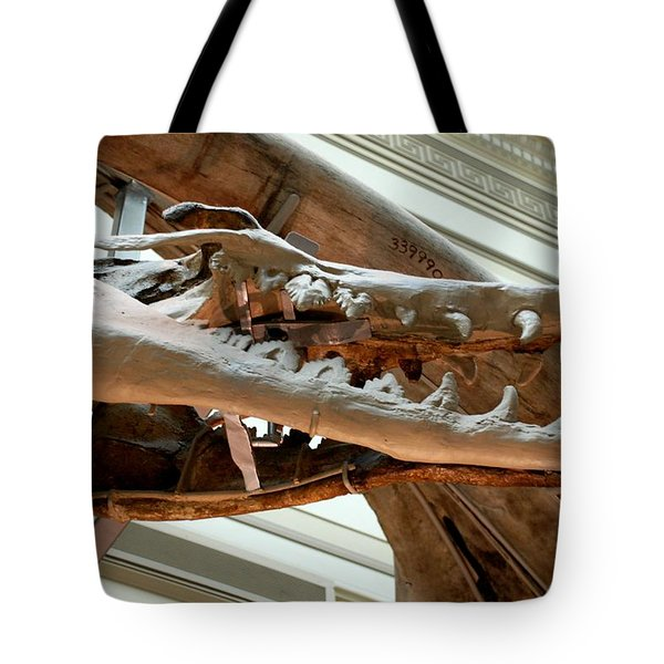 Ancient Crocodile Dinosaur Tote Bag