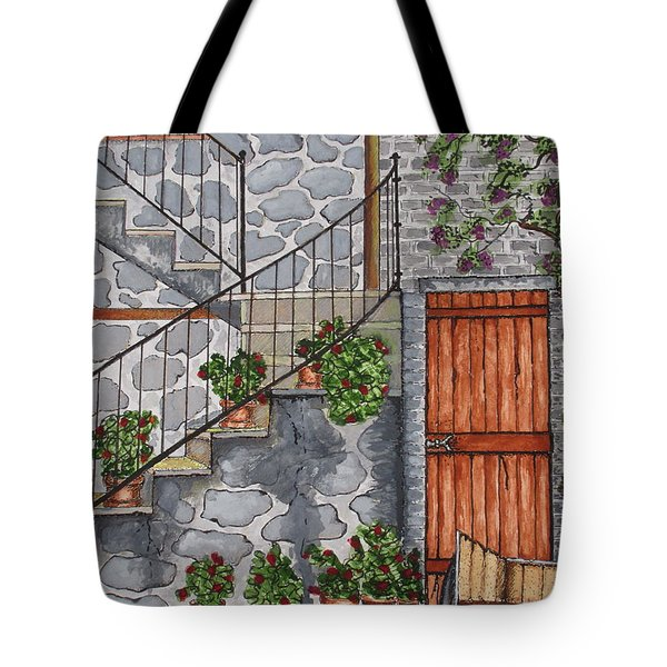 Ancient Grey Stone Residence Tote Bag