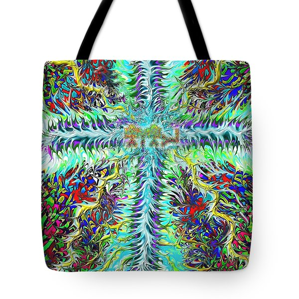 Ancient Hebrew Yhwh Cross 6 7 2014 Tote Bag
