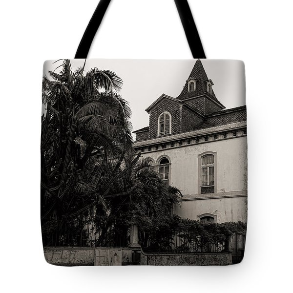 Ancient Hotel And Lush Trees  Tote Bag