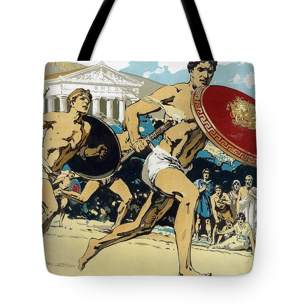Ancient Olympic Games  The Relay Race Tote Bag