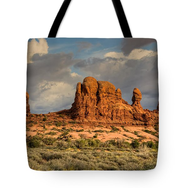 Ancient Rock Formations Tote Bag by Stephen  Johnson