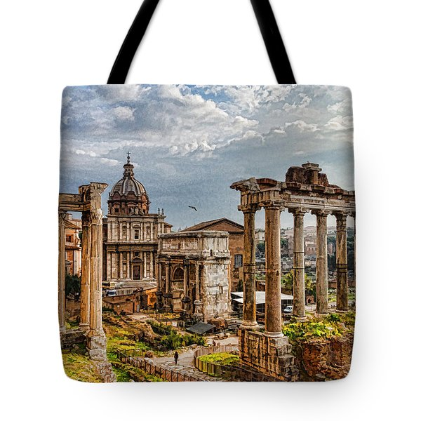 Ancient Roman Forum Ruins - Impressions Of Rome Tote Bag