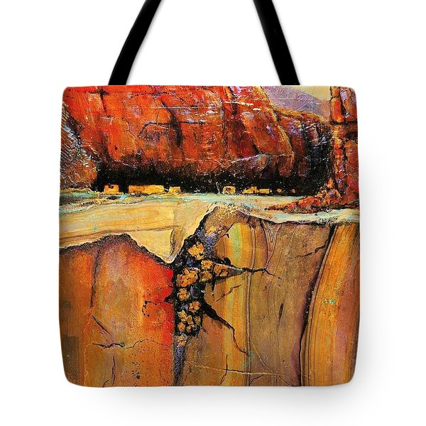 Ancient Ruins Tote Bag by JAXINE Cummins